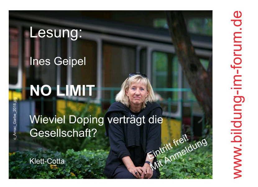 Lesung: Ines Geipel - NO LIMIT
